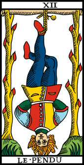carte du tarot divinatoire le Pendu