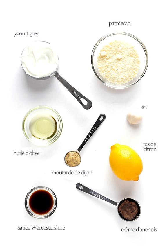 recette de la sauce au yahourt grec Caesar