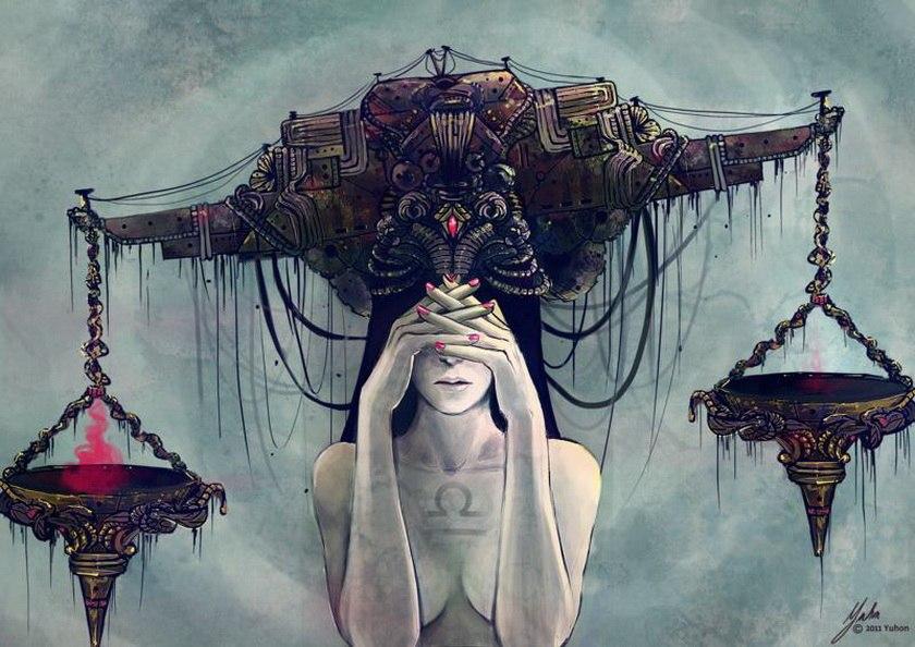 femme du signe astrologique de la Balance