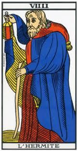 carte du tarot divinatoire de l'Hermite