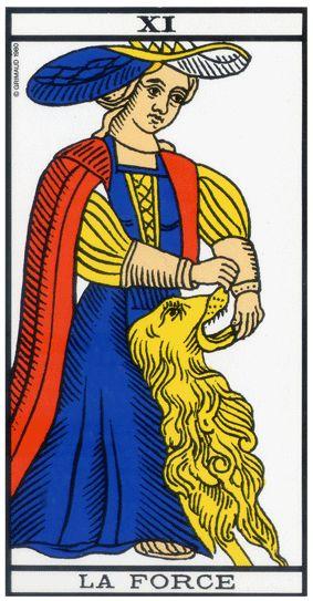 carte du tarot divinatoire la Force