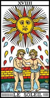 carte du tarot divinatoire le Soleil